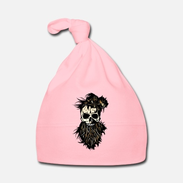 Nose head of death skull hipster bearded beard ring nose - Baby Cap