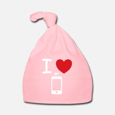 Mobile I love my mobile saying gift idea - Baby Cap