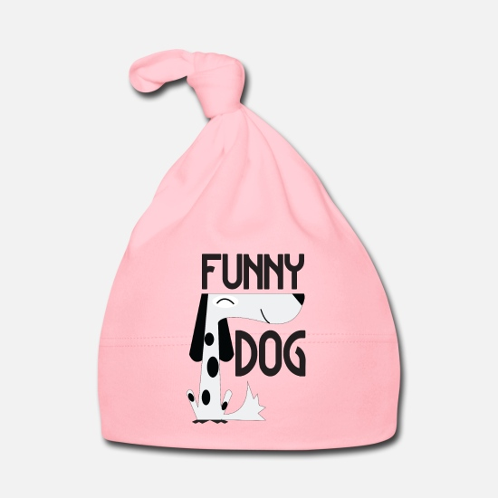 Gift Idea Baby Clothes - Funny Dog - Funny Dog - Baby Cap light pink