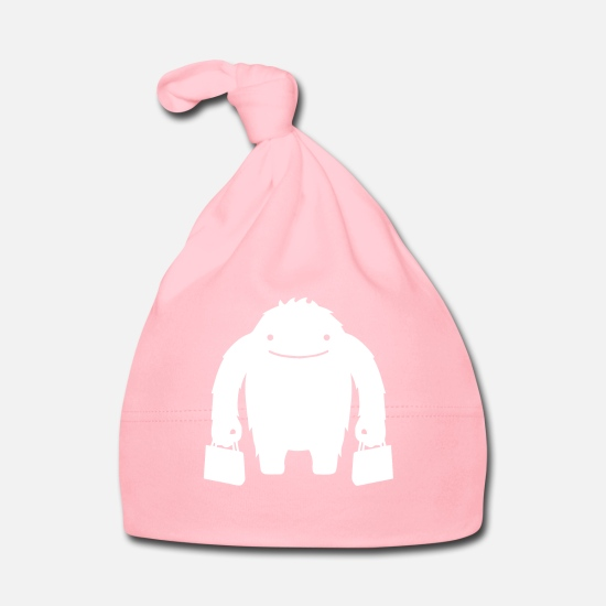 Birthday Baby Clothes - monster - Baby Cap light pink