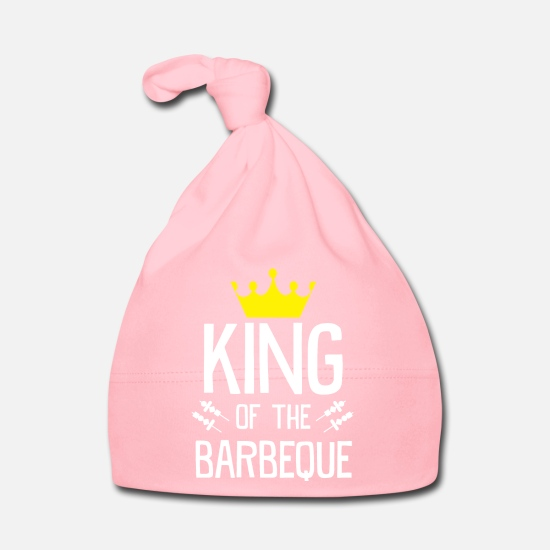 Birthday Baby Clothes - BBQ grill - Baby Cap light pink