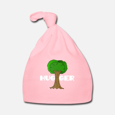Enviromental Beautiful Nature Tree Tshirt Design Hugger Tree - Baby Cap