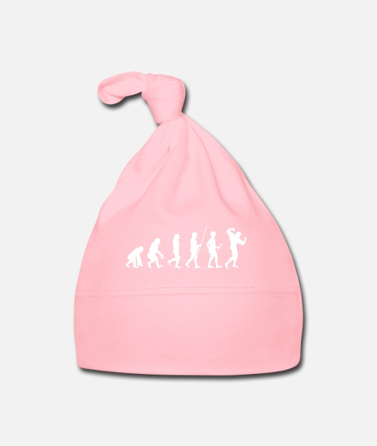 Training Baby mutsjes - Evolution voor de bodybuilder t-shirt cadeau - Baby muts light roze
