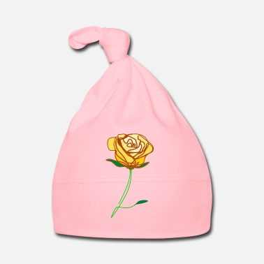 Red Rose �❤️✦°Romantic Yellow Rose-Timeless Rose Line Art - Baby Cap
