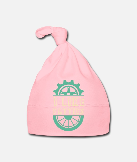 Road Bike Baby Caps - Funny cycling cycling culture cycling gift - Baby Cap light pink
