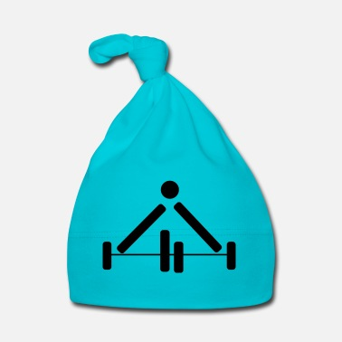 Power Lifting Weightlifting Power Lifting Pictograph Dumbbell - Baby Cap