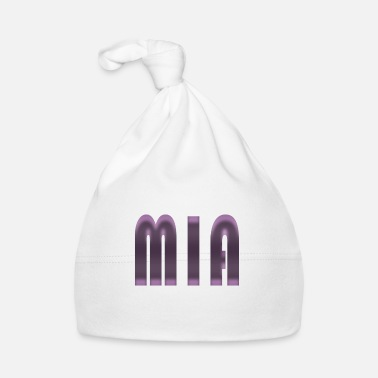 Birth Name Name Mia First name Name day Birth Gift idea - Baby Cap