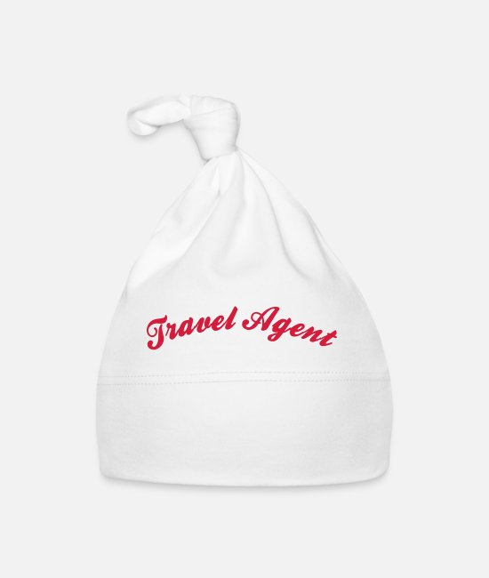 Agent Baby Caps - travel agent cool curved logo - Baby Cap white