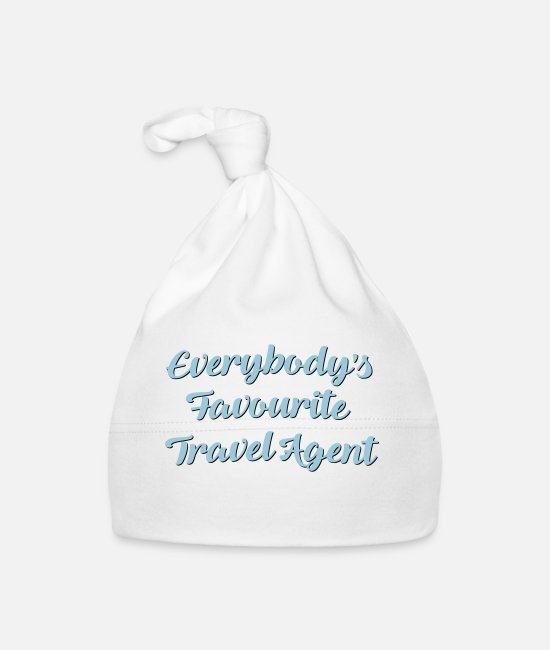 Agent Baby Caps - Everybodys favourite travel agent funny - Baby Cap white
