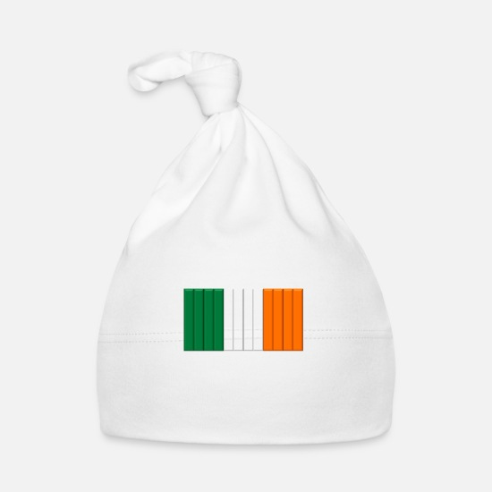Flag Baby Clothes - IRELAND BARRED - Baby Cap white