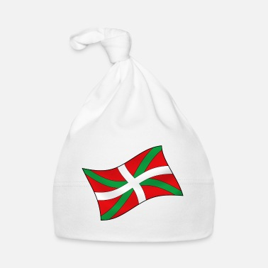 Country Basque Flag Ikurriña - Bonnet Bébé