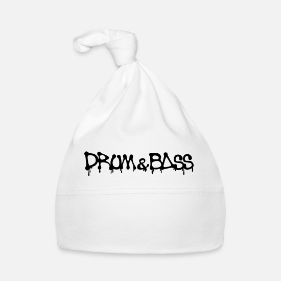 Bass Baby Clothes - Drum & Bass - Baby Cap white