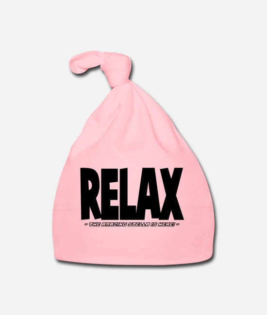 Relax Baby Caps - relax the amazing stella is here - Baby Cap light pink