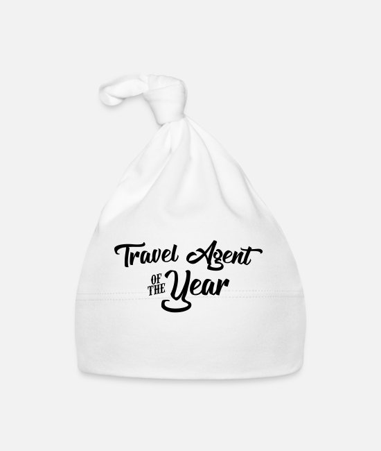 Agent Baby Caps - travel agent of the year 2107 2018 2019 - Baby Cap white
