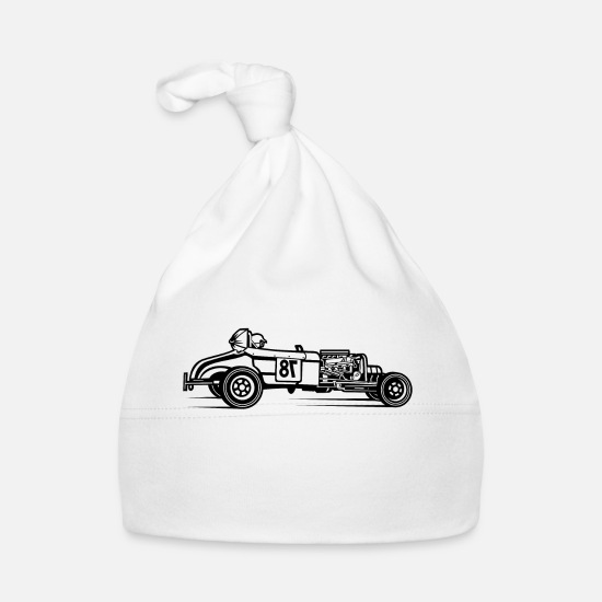 Race  Babykleding - Hot Rod / Rat Rod 01_schwarz - Baby muts wit