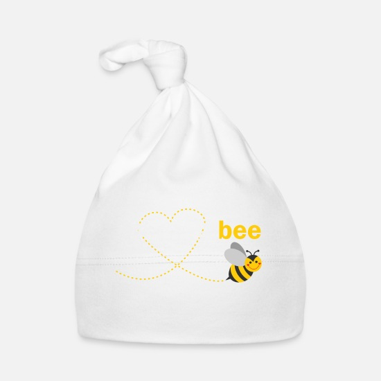 Father's Day Baby Clothes - Uncle To Bee - Baby Cap white
