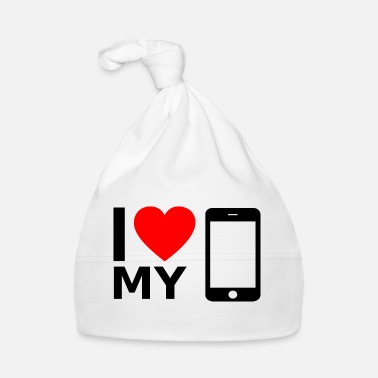Mobile I love my smartphone - Baby Cap