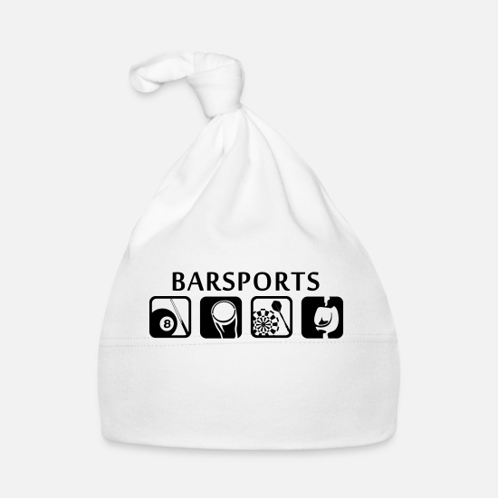 Bar Baby Clothes - Sports Bars - Bars ports - Baby Cap white