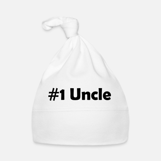 Niece Baby Clothes - #1 uncle - Baby Cap white