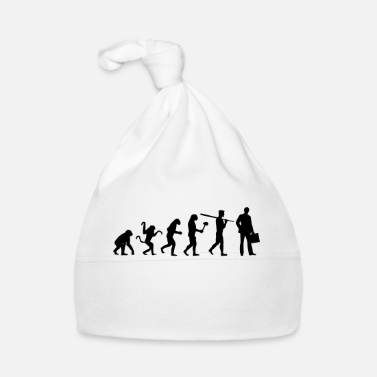 Evolution Baby Clothes - BUSINESS EVOLUTION! - Baby Cap white