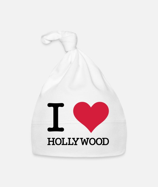 Hollywood Baby mutsjes - Ik houd van Hollywood - Baby muts wit
