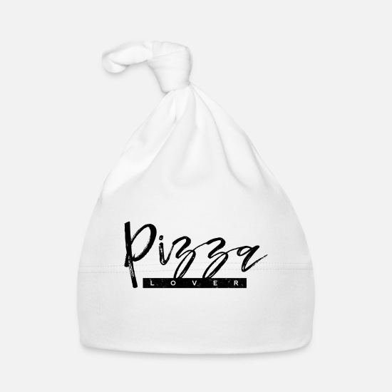 Lover Baby Clothes - Pizza lover - Baby Cap white