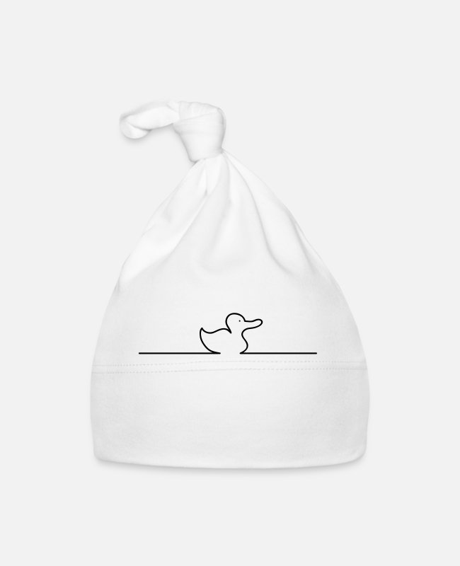 Laptop Baby Caps - Duck online - Baby Cap white