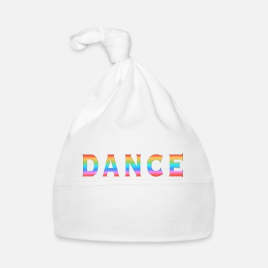 Multi Coloured Multi Coloured Dance Typography - Baby Cap