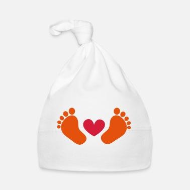 af73dd12a6bc Bonheur bébé, chéri, coeur, pieds, cadeau, maman, bonheur - Bonnet