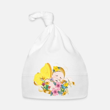 Dream Child dreaming child with wings amidst flowers - Baby Cap