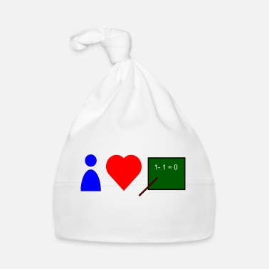 Career Teacher love gift idea school teaching math - Baby Cap