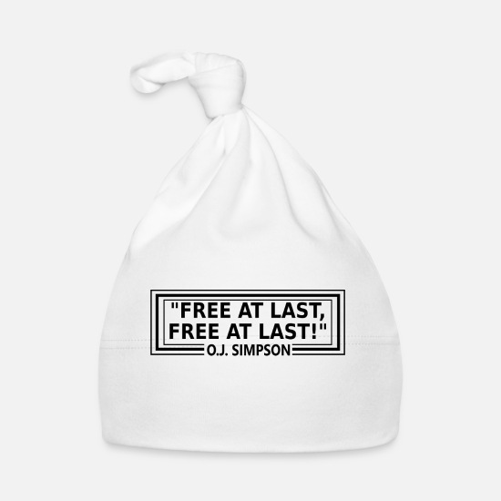 Prominent Baby Clothes - Wrong quote - - and he is free - Baby Cap white