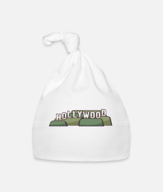 Vieren Baby mutsjes - Los Angeles Hollywood Sign - Baby muts wit