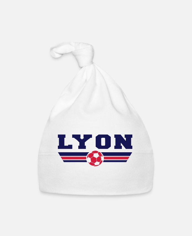 Red Baby Caps - Lyon football - Baby Cap white