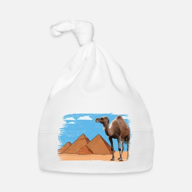 Camel in front of pyramids - Baby Cap