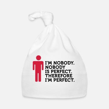 Fraise Personne n est parfait. Je ne suis personne. - Bonnet Bébé 93f89aac182
