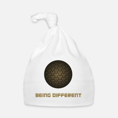 Different being different font ball graphic gift idea - Baby Cap