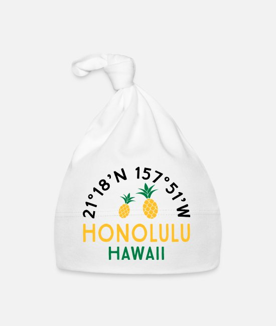 Travel Baby Caps - Funny gifts for Hawaii vacationers - Baby Cap white