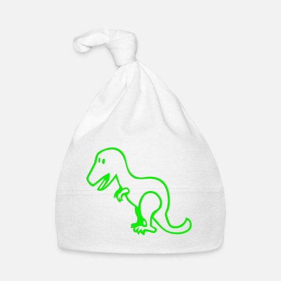 Toy Baby Clothes - Dinosaur - Baby Cap white