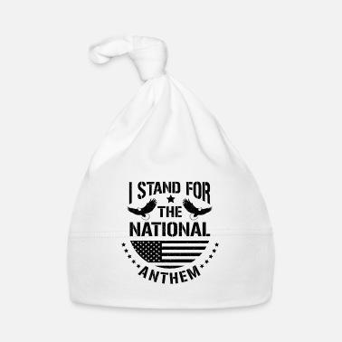 United I stand for the national anthem - eagle flag gift - Bonnet Bébé