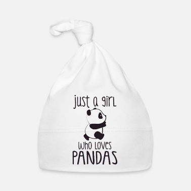 Red Just a girl who loves Pandas - Gorro bebé