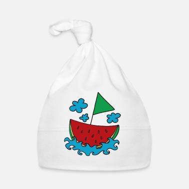 e640928bfd96 Bateau Melon, bateau, navire, pastèque, été, nuage - Bonnet Bébé