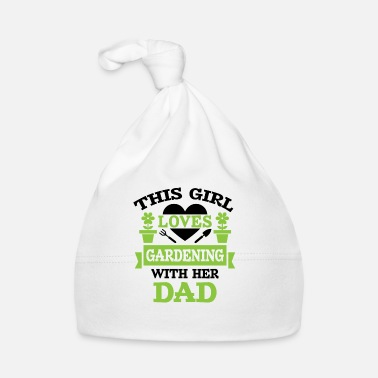 Humor Girl loves gardening with dad - Gorro bebé