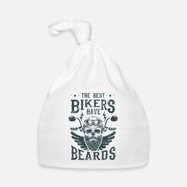 Planeta The best bikers have beards - skull motorcycle - Gorro bebé