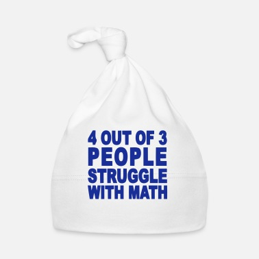 Uni 4 out of 3 hate math T-shirts - Babyhue