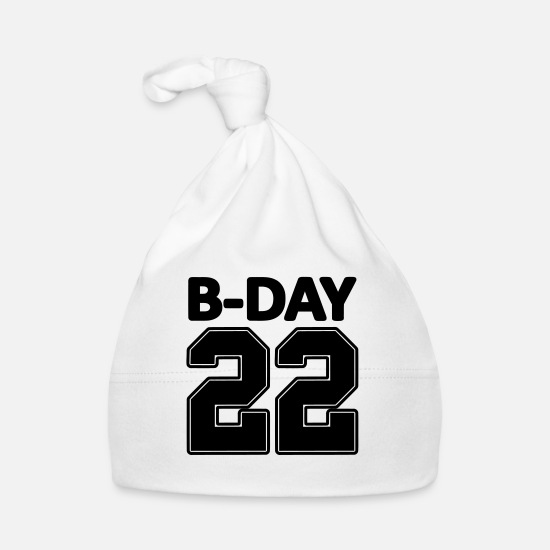 Number Baby Clothes - 22nd birthday bday 22 number numbers jersey number - Baby Cap white