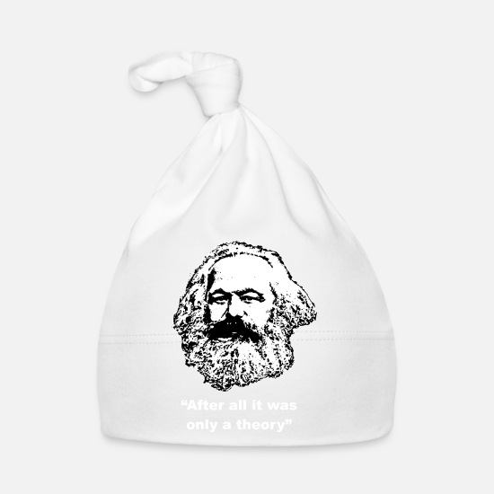 Marx Baby Clothes - Karl Marx after all it was only a theory - Baby Cap white