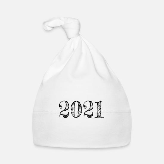 Het jaar 2021 - Gelukkig nieuwjaar 2021 cadeau-idee Baby muts | Spreadshirt