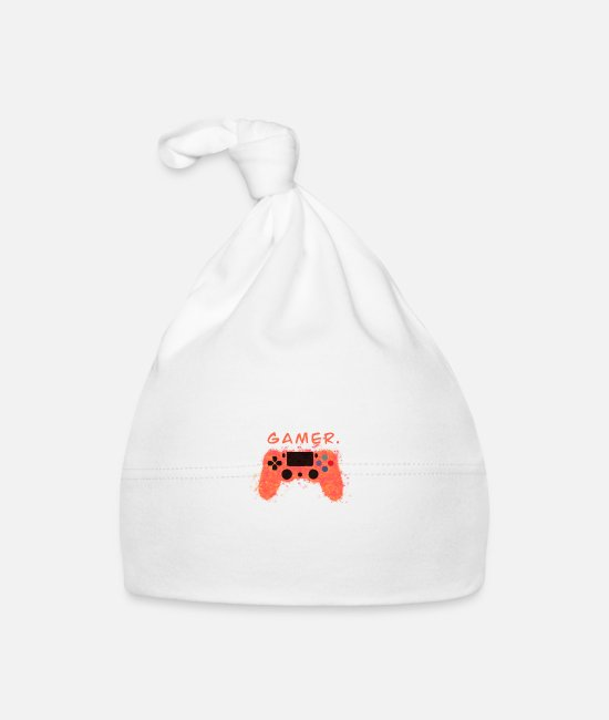 Life Force Baby Caps - Gamer controller gamers - Baby Cap white