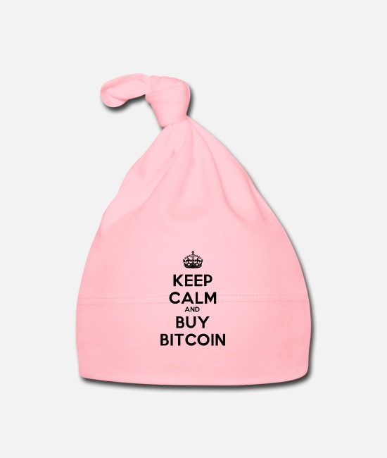 Keep Calm Vauvan myssyt - Keep Calm And Osta Bitcoin - Vauvan myssy vaalea pinkki